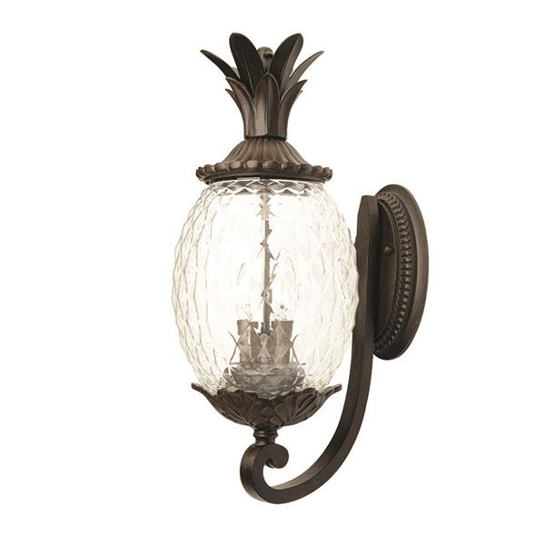 Acclaim Lighting Lanai 21.75-in Matte Black Clear Glass 3-Light Outdoor Wall Lantern