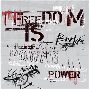 Papier peint murale, texte