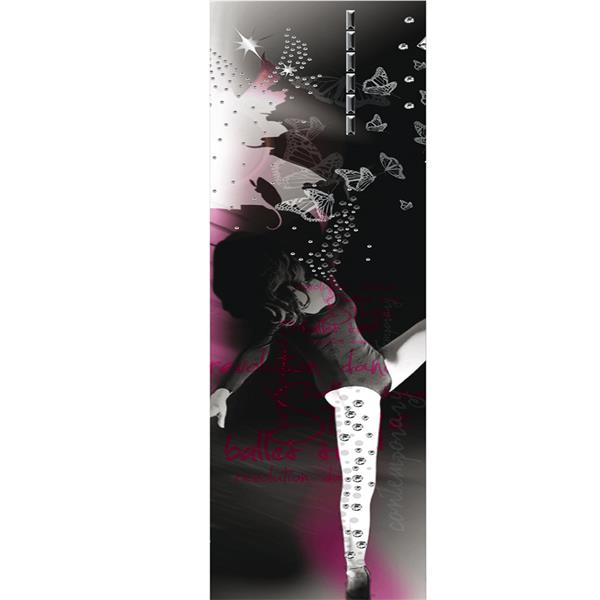 Bande de papier peint à paillettes, ballerine