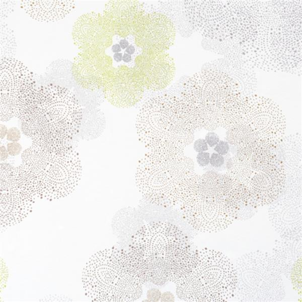 Walls Republic Beige Metallic Floral Non-Woven Paste The Wall Floral Medallion Wallpaper