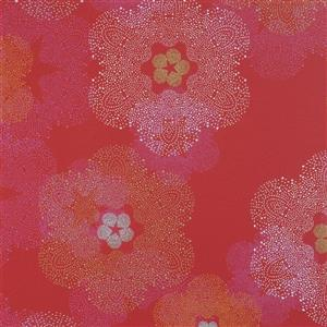 Walls Republic Cardinal Floral Non-Woven Paste The Wall Floral Medallion Wallpaper