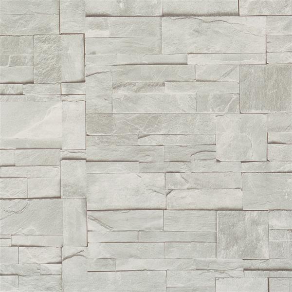 Walls Republic Block Stone Pattern Wallpaper