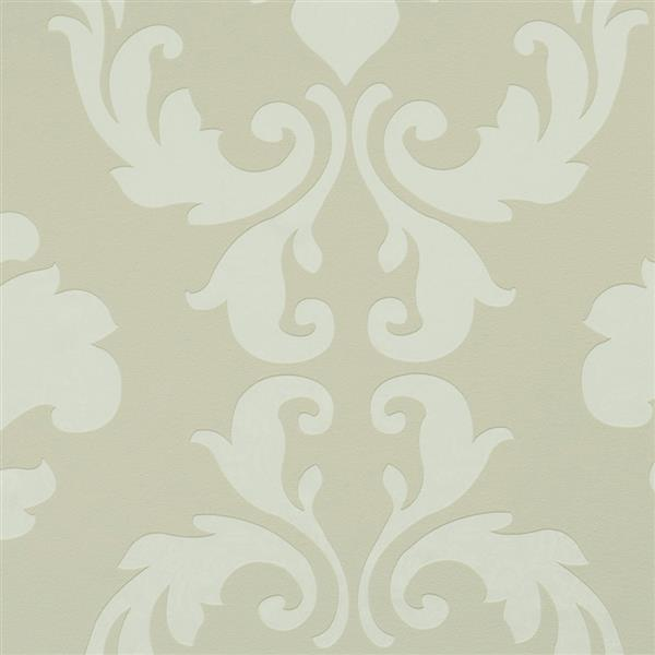 Walls Republic Vanilla Metallic Floral Damask Non-Woven Unpasted Wallpaper