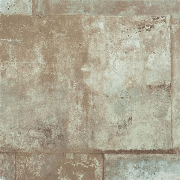 Walls Republic Beige Abstract Non-Woven Paste The Wall Faux Metal Wallpaper