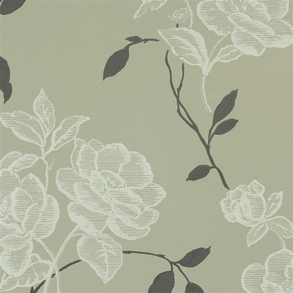 Walls Republic Vintage Floral 57 sq ft Grey Unpasted Wallpaper