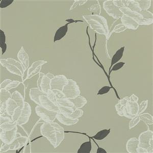 Papier peint florale rétro