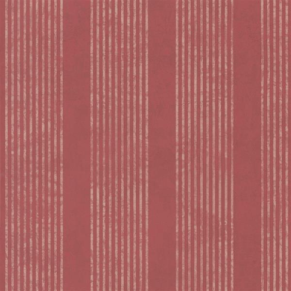 Papier peint classique côtelé et rayé rouge