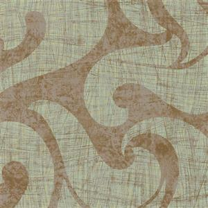 Walls Republic Metallic Swirls 57 sq ft Green Unpasted Wallpaper