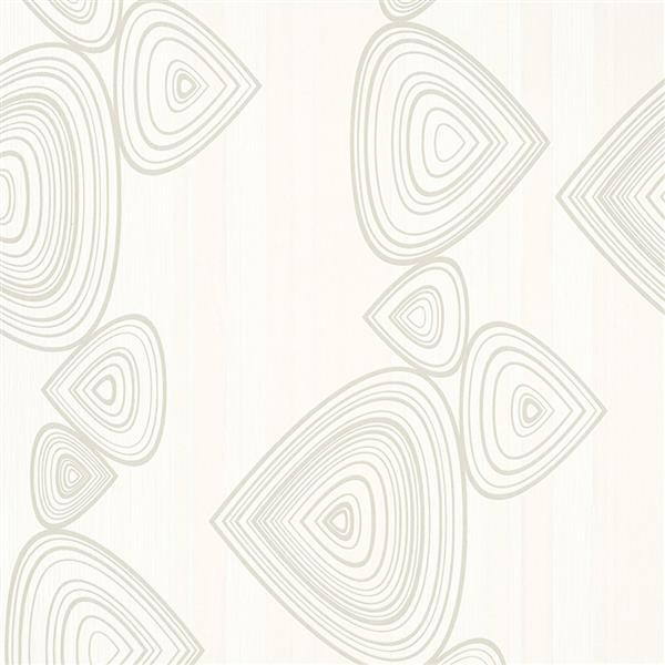Walls Republic 57 sq ft White Abstract Striped Geometric Wallpaper