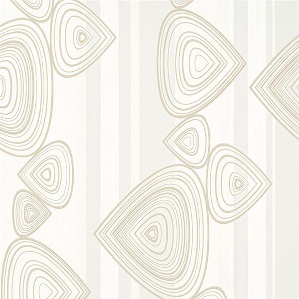 Walls Republic 57 sq ft Beige Abstract Striped Geometric Wallpaper