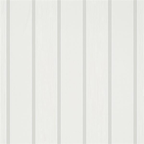 Walls Republic White Classic Metallic Ribbon Striped Wallpaper