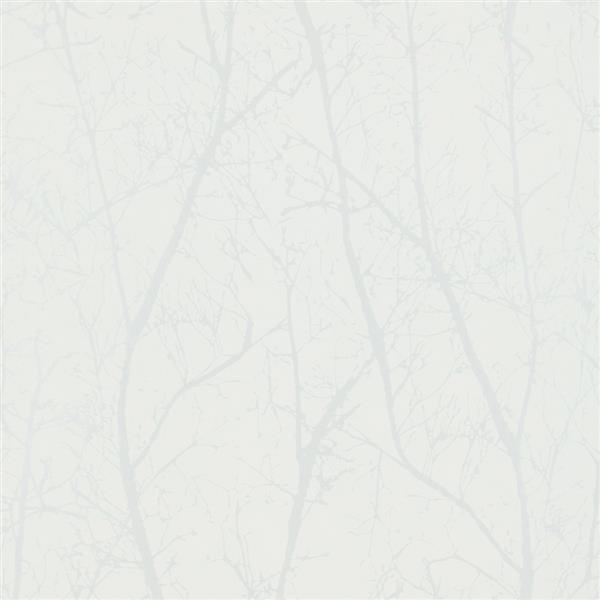 Walls Republic Cream/Pearl Contemporary Winter Tree Wallpaper