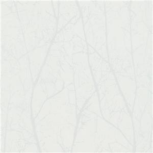 Papier peint contemporain, arbres d'hiver