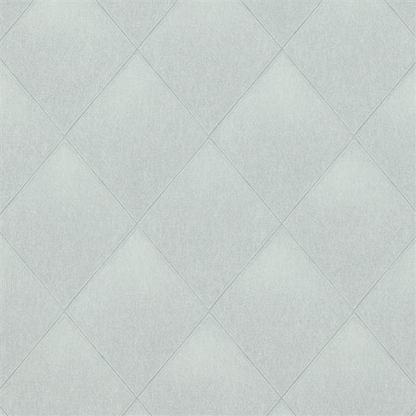 Walls Republic Gray Modern Padded Textile Non-Woven Unpasted Wallpaper