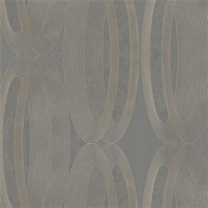Papier peint contemporain, gris métallisé