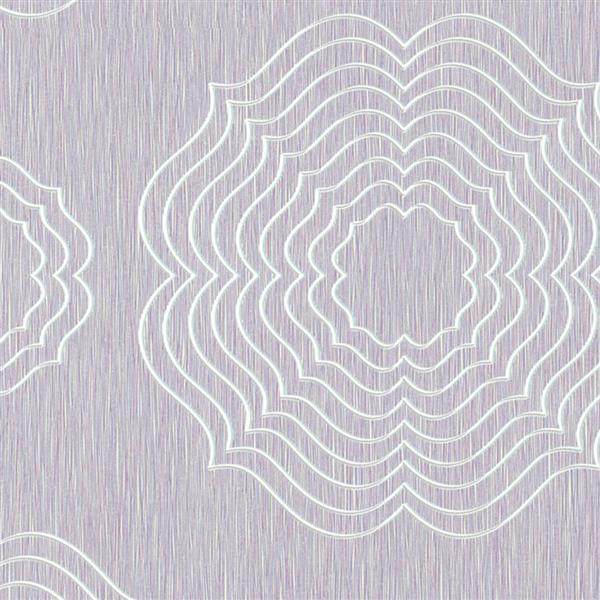 Walls Republic 57 sq ft Lilac Abstract Flowers Wallpaper