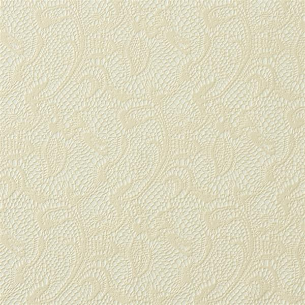 Walls Republic Textile Traditional Lace 57 sq ft Beige Unpasted Wallpaper