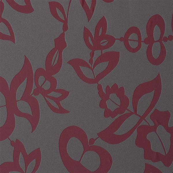 Walls Republic Grey & Red Myth Pattern Non-Woven Unpasted Wallpaper