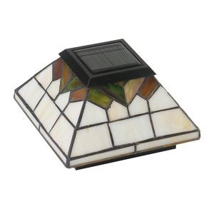 Classy Caps Wellington Solar Stained Glass Post Cap