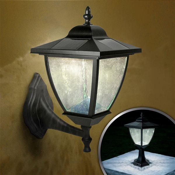 Lampe solaire Eleganté, aluminium, noir