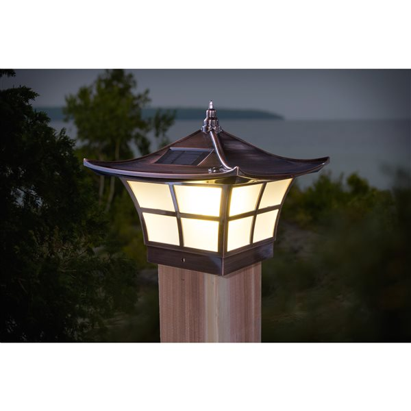 Classy Caps Ambience 4-in x 4-in Copper Plated Solar Post Cap