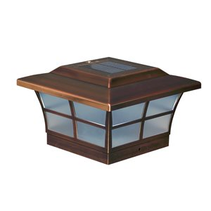 Prestige Solar Copper Plated 6-in x 6-in Post Cap
