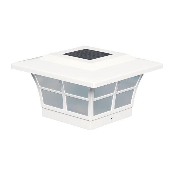 Prestige Solar PVC White 5-in x 5-in Post Cap