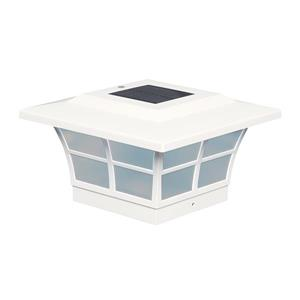 Prestige Solar PVC White 5-in x 5-in Post Cap