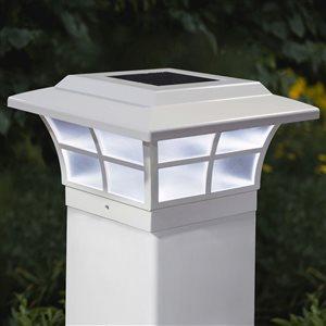 """Capuchon de poteau solaire Prestige, PVC, blanc, 5"""" x 5"""""""