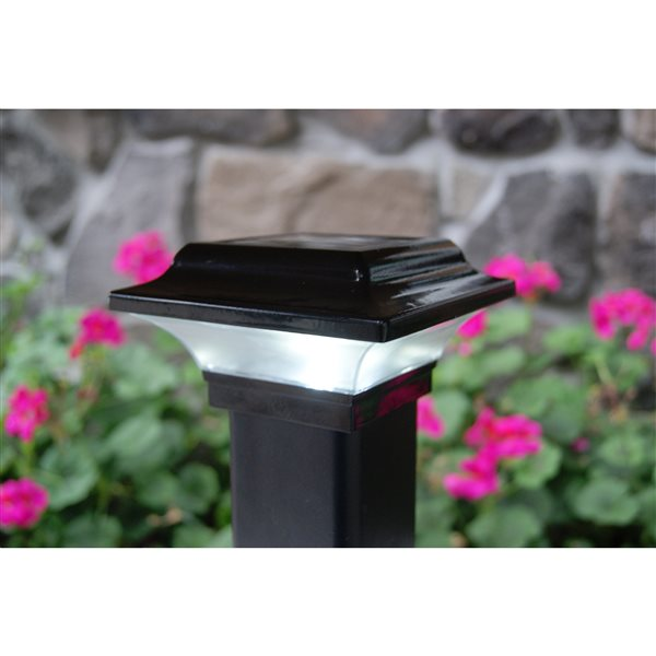 Imperial Solar Black Aluminum 2.5-in x 2.5-in Solar Post Cap