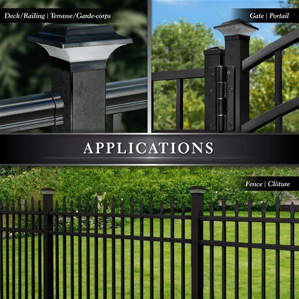 Classy Caps Imperial Solar Black Aluminum 2.5-in x 2.5-in Solar Post Cap