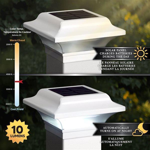 Classy Caps Imperial Solar White Aluminum 2.5-in x 2.5-in Post Cap
