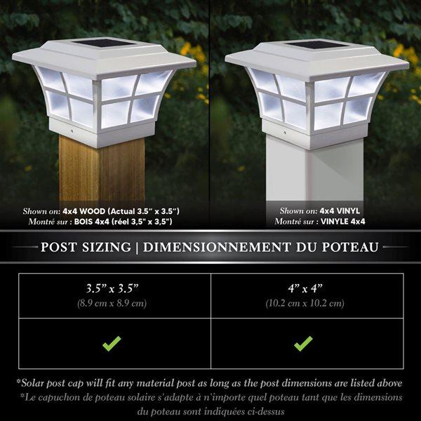 Prestige Solar PVC White 4-in x 4-in Post Cap