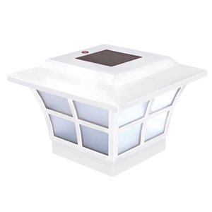 Prestige Solar PVC White 4-in x 4-in Post Cap