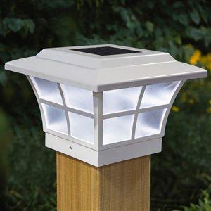 """Capuchon de poteau solaire Prestige, PVC, blanc, 4"""" x 4"""""""