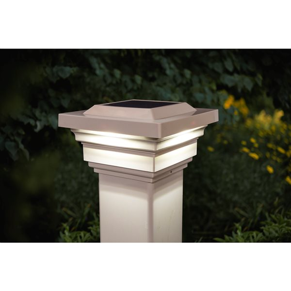 Regal Solar PVC Tan 4-in x 4-in Post Cap