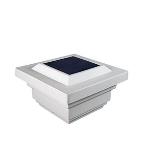 Regal Solar PVC White 4-in x 4-in Post Cap