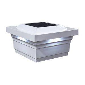 Classy Caps Majestic Solar PVC White 5-in x 5-in Post Cap