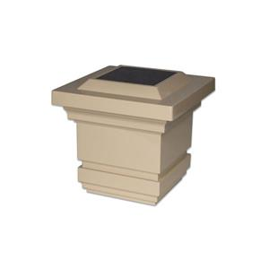 """Capuchon de poteau solaire Classy, PVC, beige, 4"""" x 4"""""""