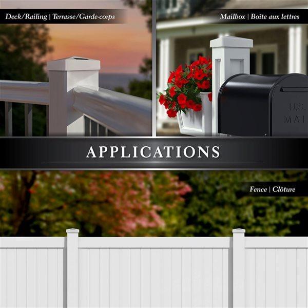Pyramid Solar PVC White 4-in x 4-in Post Cap