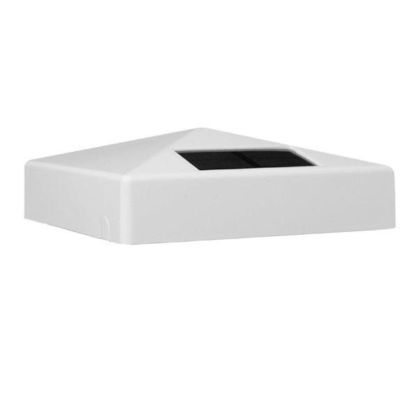 Pyramid Solar PVC White 5-in x 5-in Post Cap