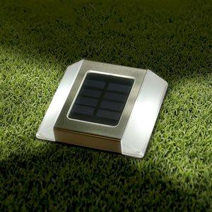 Lumière solaire de sentier, acier inoxydable
