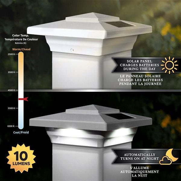 Windsor Solar PVC White 4-in x 4-in Post Cap