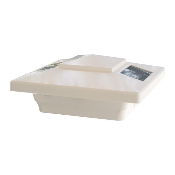 """Capuchon de poteau solaire Windsor, PVC, blanc, 4"""" x 4"""""""