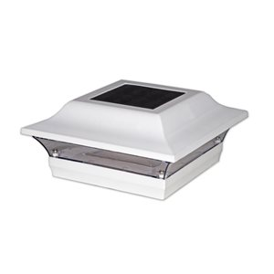 Imperial White Aluminum 5-in x 5-in Post Cap