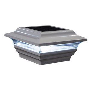 Imperial White Aluminum 4-in x 4-in Solar Post Cap