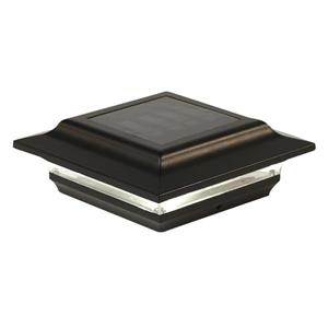 """Capuchon de poteau solaire Imperial, aluminium, noir,5""""x5"""""""