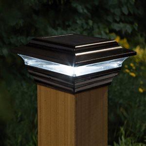 """Capuchon de poteau solaire Imperial, aluminium, noir,4""""x 4"""""""