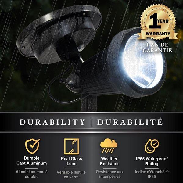 Classy Caps High Performance Solar Spotlight Black Aluminium