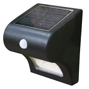 Classy Caps Solar Motion Sensor Deck and Wall Security Light